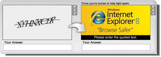 Advertising nel Captcha