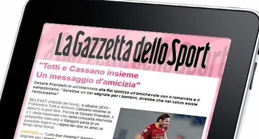 La Gazzetta dello Sport su iPad