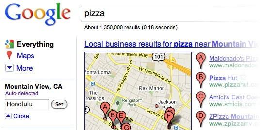 Geolocalizzazione su Google