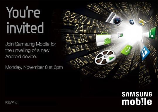 Volantino di invito per la presentazione dell'ipotetico Nexus Two