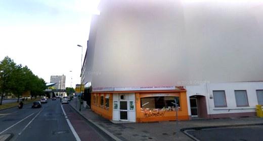 Effetto blur su Google Street View