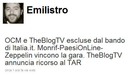 Emiliano D'Andrea su Twitter