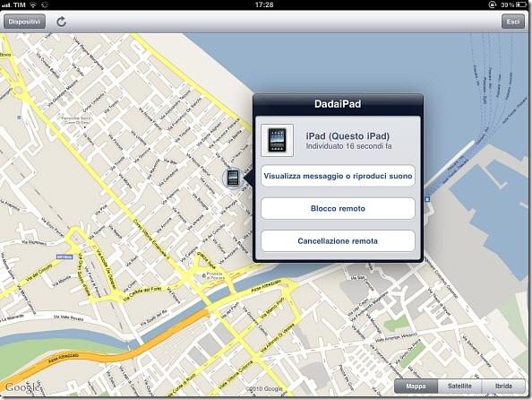 Ipad Trova il mio iPhone