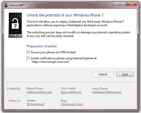 Jailbreak per Windows PHone 7