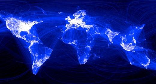 La mappa delle amicizie su Facebook, di Paul Butler