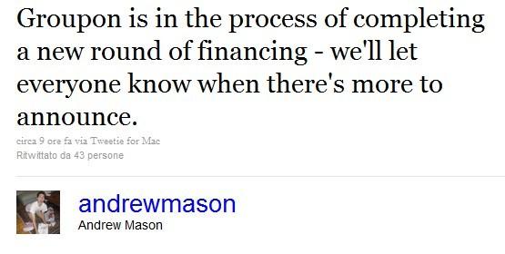 Andrew Mason su Twitter