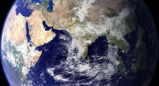 Terra vista dal satellite