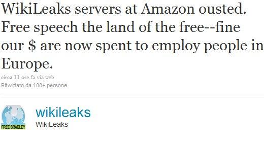 Wikileaks su Twitter
