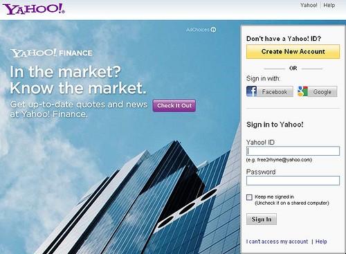 Login su Yahoo