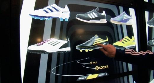 Adidas Virtual Footwear Wall