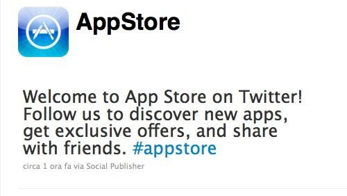 App Store su Twitter