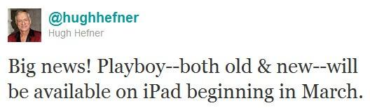 Hugh Hefner su Twitter
