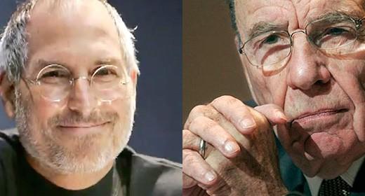Steve Jobs e Rupert Murdoch