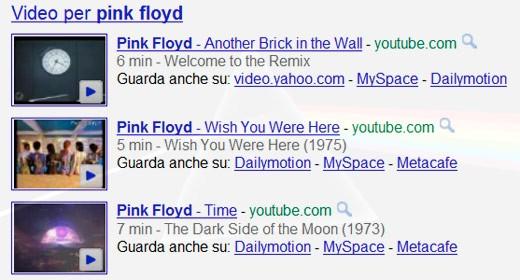 Video musicali tra le SERP di Google
