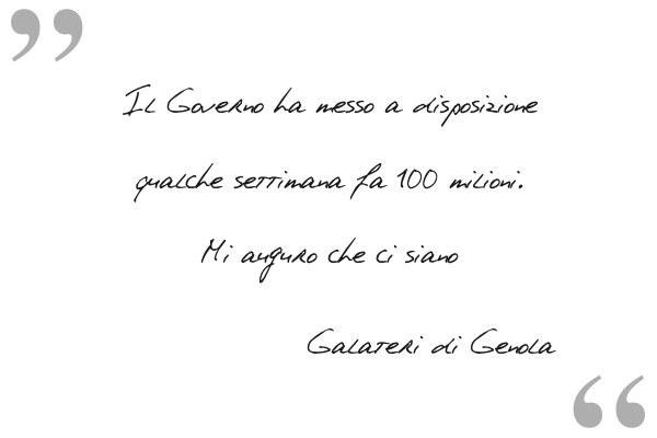 Ipse Dixit: Gabriele Galateri di Genola