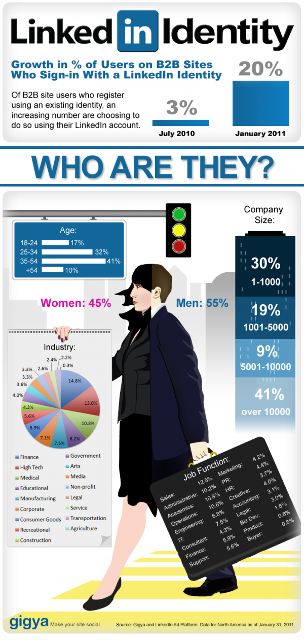 Infografica degli utenti Linkedin