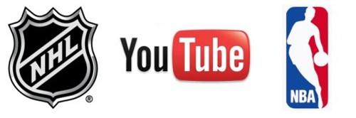 YouTube tratta con NBA e NHL