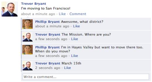 Facebook commenti in tempo reale