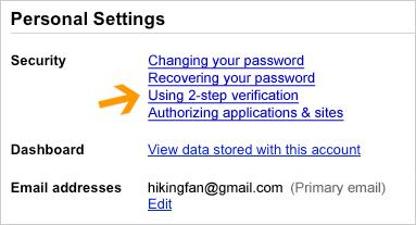 Gmail Account - impostazioni