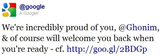 Google risponde a Wael Ghonim