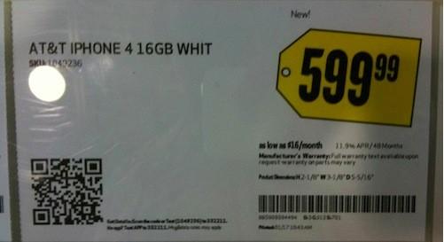 iPhone 4 bianco da Best Buy