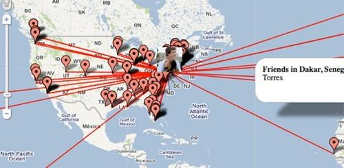 Mappe degli amici di Facebook