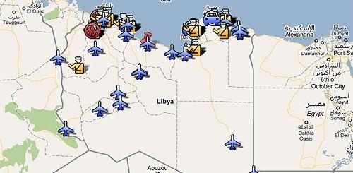 Mappa delle violenze in Libia
