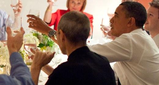Steve Jobs e Barack Obama