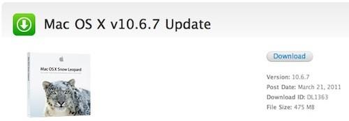 Aggiornameno a Mac OS X 10.6.7