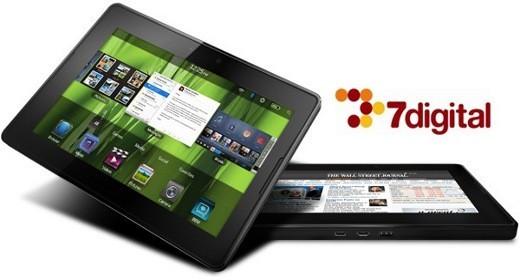 blackberry playbook 7digital