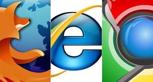 Internet Explorer, Mozilla Firefox e Google Chrome