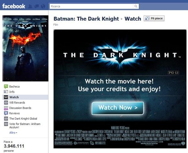 Batman su Facebook