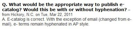 Domande e risposte su AP Stylebook