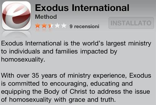 Exodus e l'app per la cura dei gay