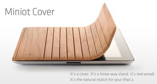 Cover Miniot in legno per iPad 2