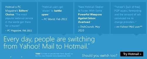 Hotmail Yahoo