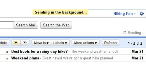 Sending in background GMAIL