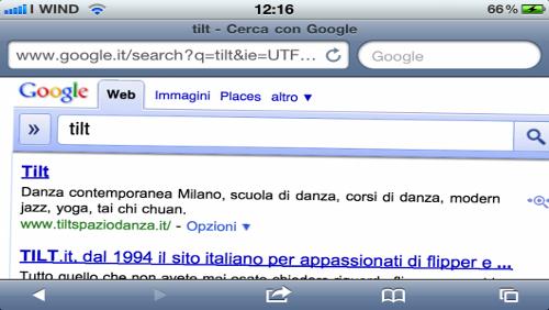 Google, Tilt iOS