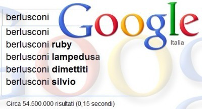 Berlusconi su Google Suggest