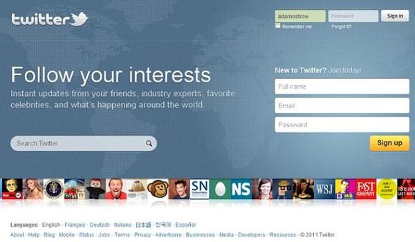 Twitter, nuova homepage