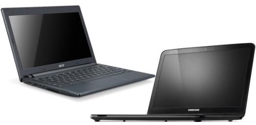 Chromebook Acer e Samsung