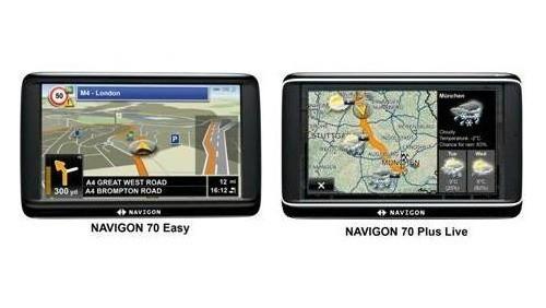 Navigon 70 Easy e Navigon 70 Plus Live