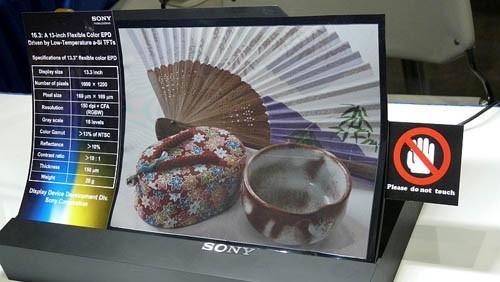 e-paper flessibile di Sony