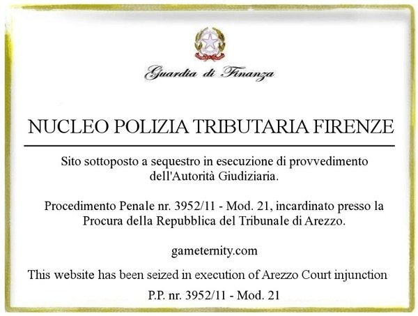 Gameternity.com sotto sequestro