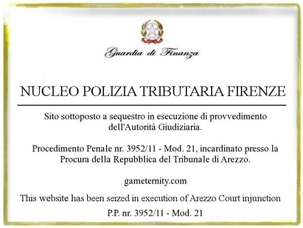 Gameternity.com sotto sequestro