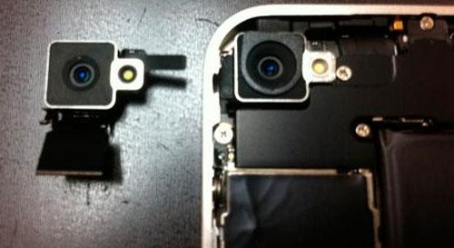 iPhone 4 bianco, fotocamera posteriore