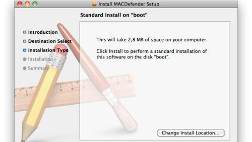 Screenshot MacDefender
