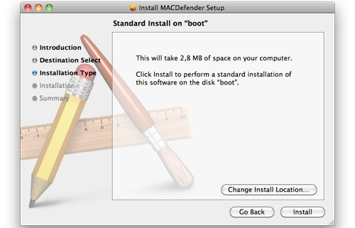 MACDefender, malware per Mac OS X