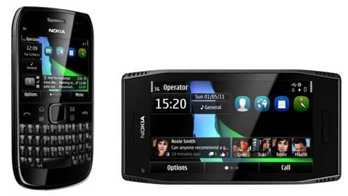 Nokia E6 ed X7