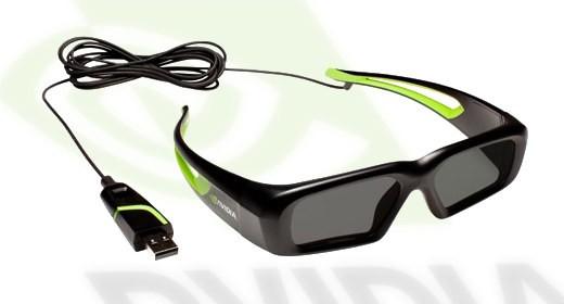 Nvidia, occhiali 3D con USB